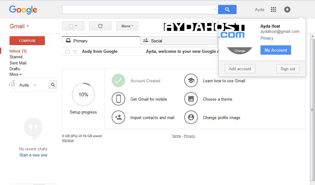آموزش ساخت ايميل در گوگل (جيميل) -5